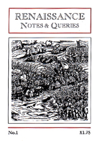 Renaissance Notes & Queries